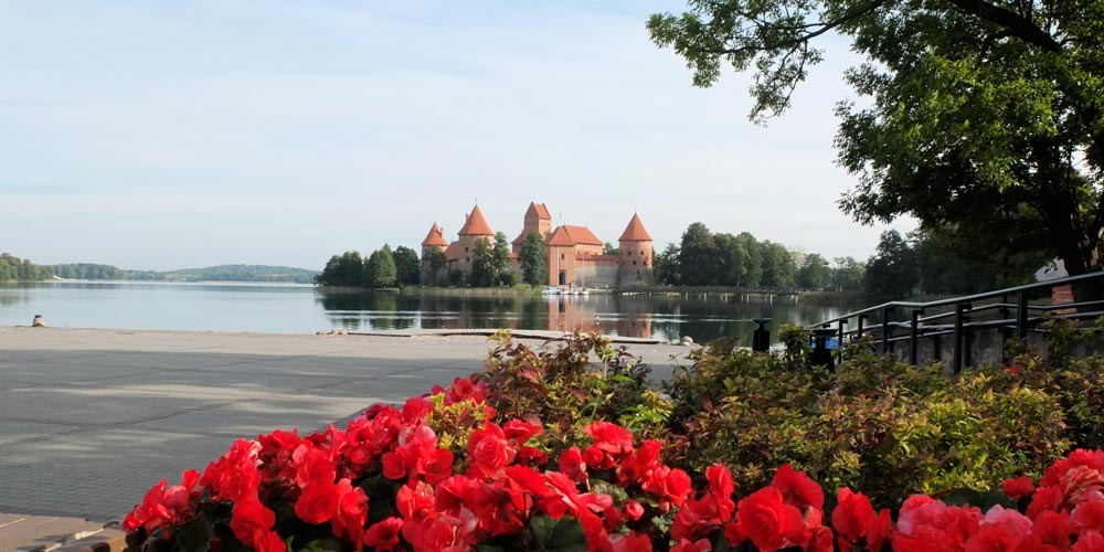 Trakai Castle, baltic states, holidays with guided bike