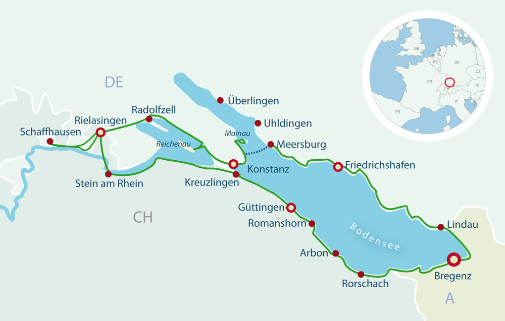 Map Cycling Lake Constance